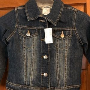 Girls jean jacket.  Children's place size 7/8 NWT